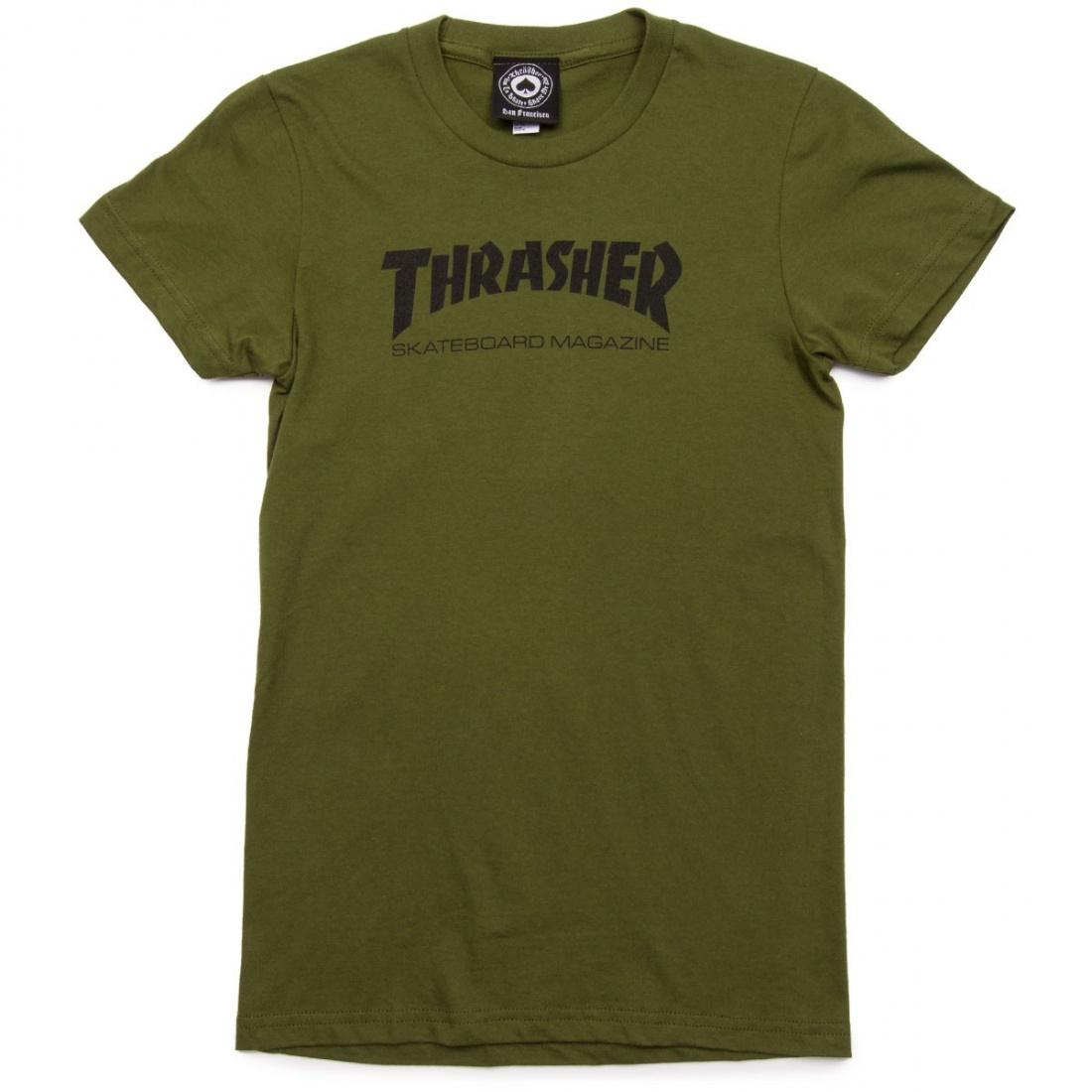 Футболка Girls Thrasher Mag Logo Short Sleeve купить в Boardshop №1