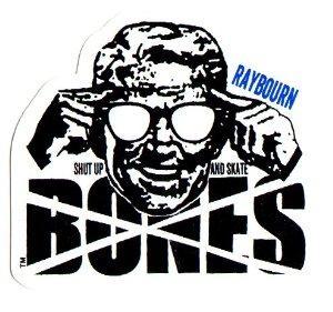 Наклейка Bones RAYBOURN SUAS купить в Boardshop №1