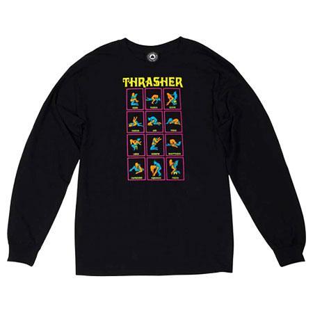 Лонгслив Thrasher Black Light Longsleeve купить в Boardshop №1