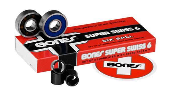Подшипники для скейтборда Bones Super Swiss 8mm 8 Packs купить в Boardshop №1