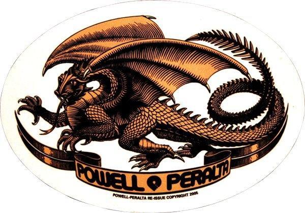 Наклейка Powell Peralta Oval Dragon купить в Boardshop №1