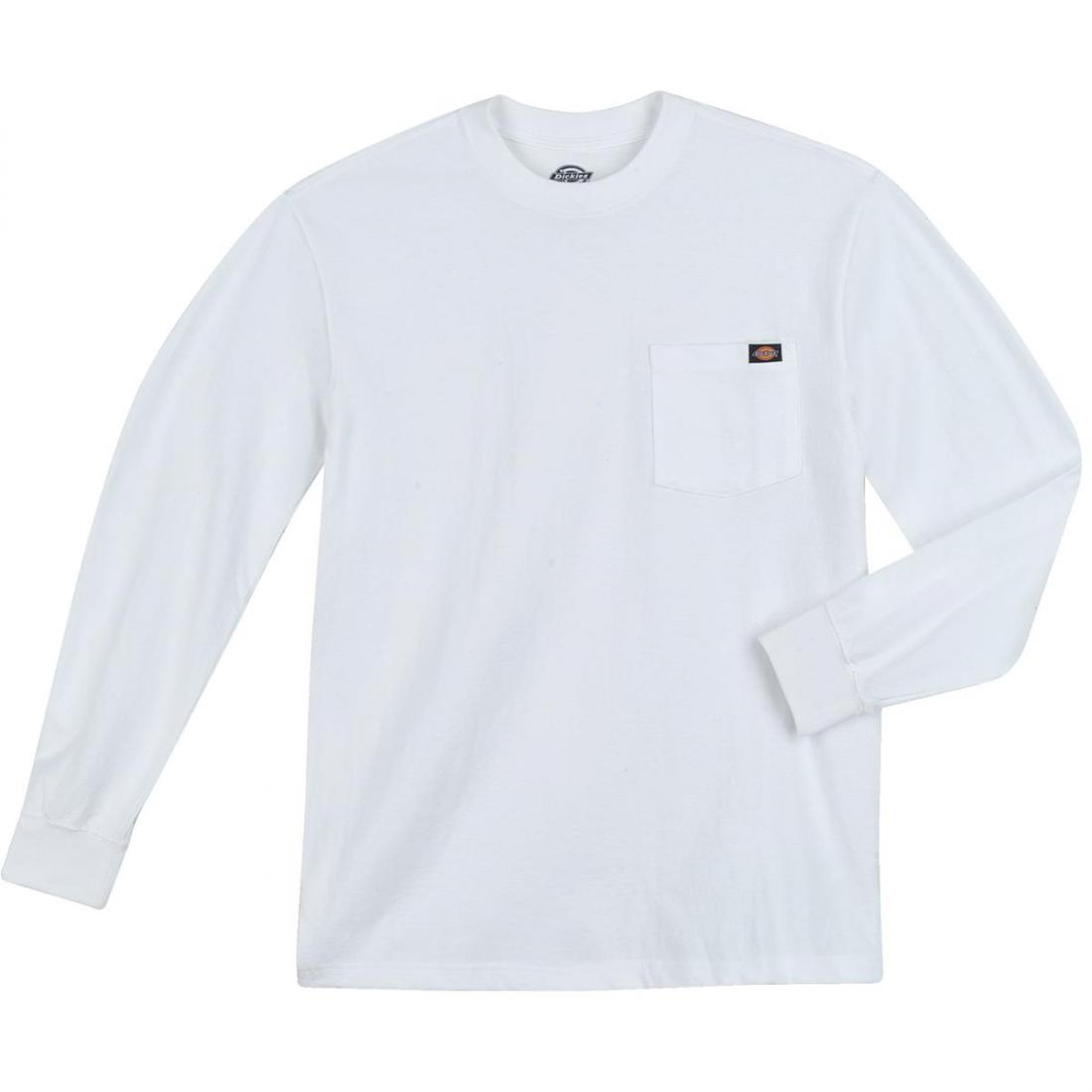 Футболка Dickies Long Sleeve Heavy Weight Pocket Tee Белый