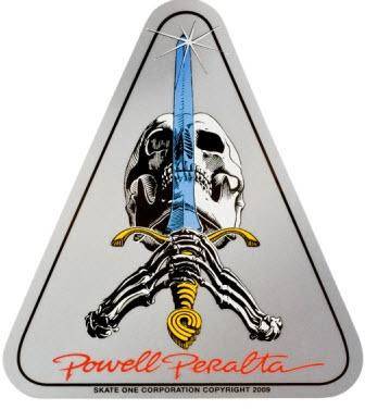 Наклейка Powell Peralta Skull and Sword купить в Boardshop №1
