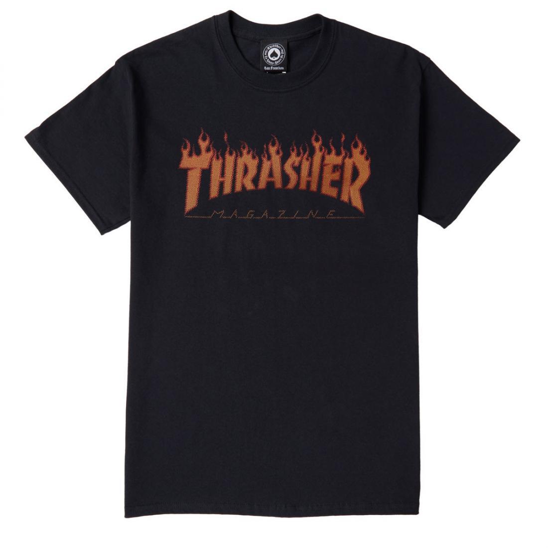 Футболка Thrasher Flame Halftone купить в Boardshop №1