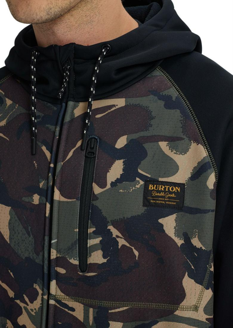 Толстовка Burton Crown Bonded Full-Zip Hoodie купить в Boardshop №1