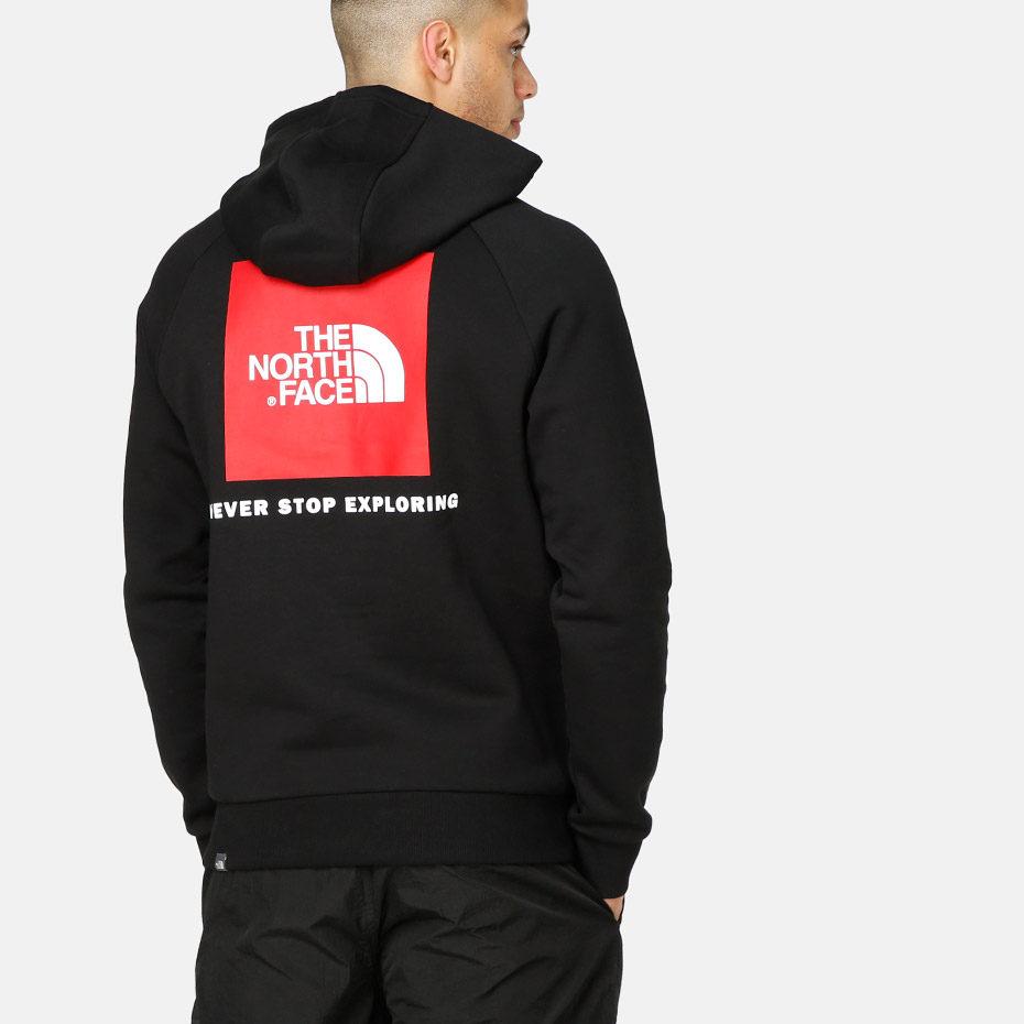 Толстовка The North Face Raglan Red Box hd TNF купить в Boardshop №1